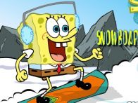Spongebob - Snowboarding in Switzerland